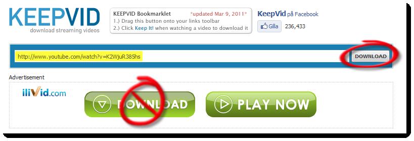 Ett skärmklipp från keepvid.com