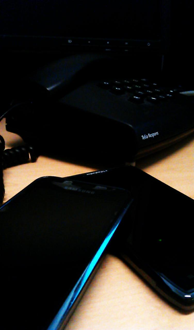 Mörkare med mobil