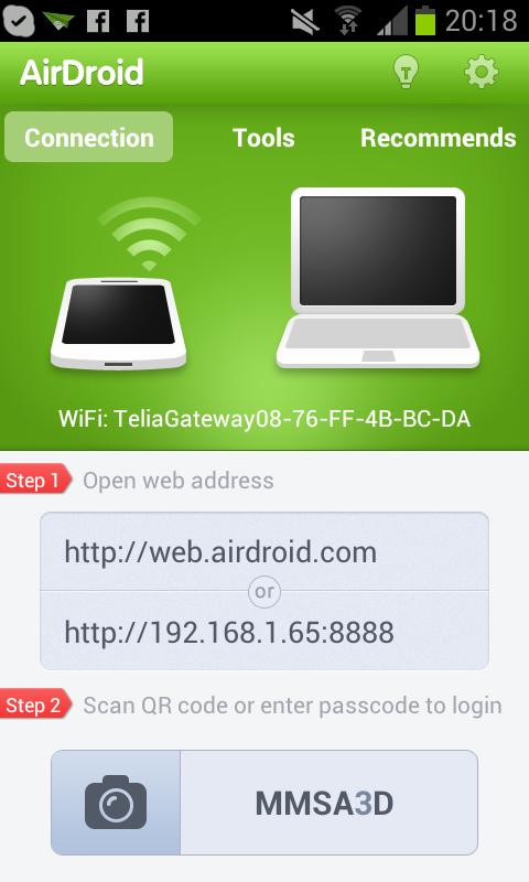 Med AirDroid får du lätt kontakt med din Androidlur via det trådlösa nätverket