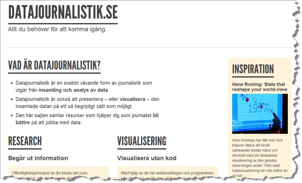 Sajten Datajournalistik.se