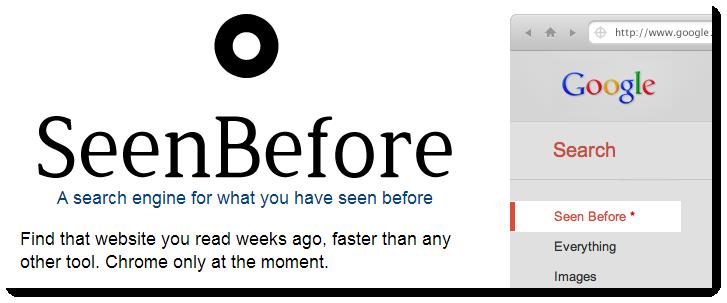 Med SeenBefore kan man begränsa sina sökresultat i Google till sådana man besökt tidigare
