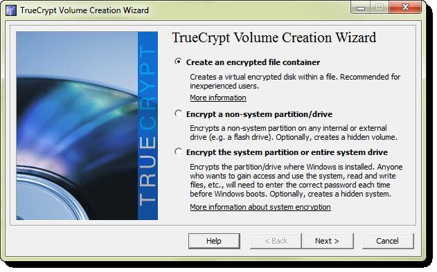 Har vi en partition eller hel hårddisk över så går det bra, men vi kan också skapa vår nya volym på en fil