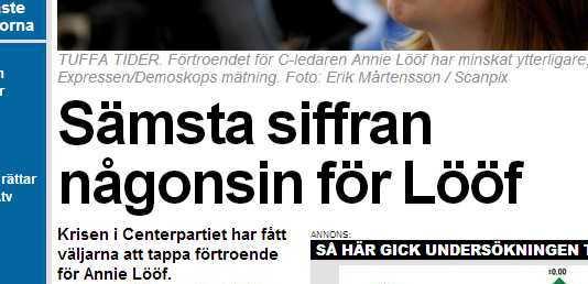 Skärmdump från Expressen.se