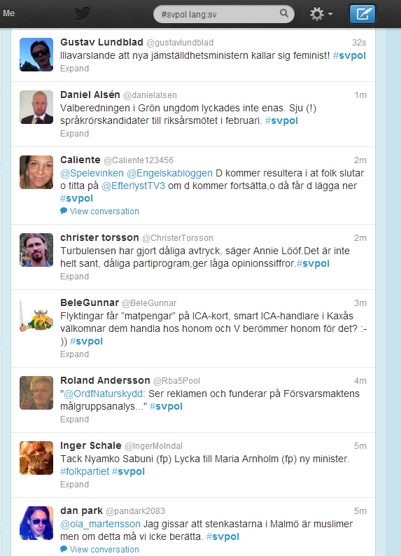 Twitter - Search - #svpol lang-sv