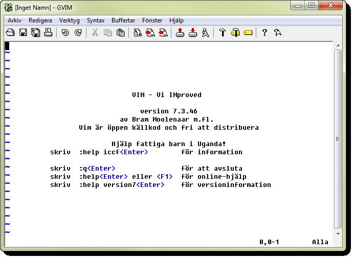 Vim är en vidareutveckling har textredigeraren Vi som skapades 1976