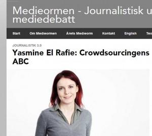 Yasmine El Rafie- Crowdsourcingens ABC - Medieormen - Journalistisk utveckling och mediedebatt - Sveriges Radio