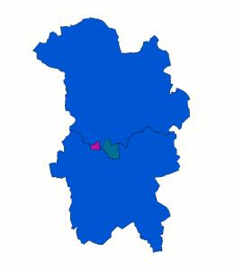 Valkretsarna i Växjö, före och efter ändringen