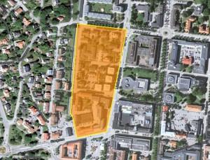 Satellitbild över det överblivna hörnet av distrikt 07800121
