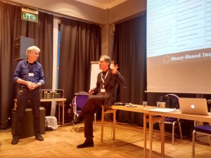 Story Based Inquiry-missionärerna Luuk Sengers och Mark Lee Hunter på Global Ivestigative Journalism Conference i Lillehammer, Norge härom veckan.